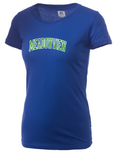 Meadowview Elementary School Hawks  Russell Women's Campus T-Shirt