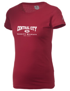 Central City Community High School Wildcats  Russell Women's Campus T-Shirt