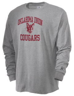 Oklahoma Union School Cougars  Russell Men's Long Sleeve T-Shirt