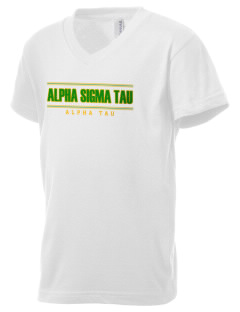 Alpha Sigma Tau Kid's V-Neck Jersey T-Shirt