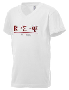 Beta Sigma Psi Kid's V-Neck Jersey T-Shirt