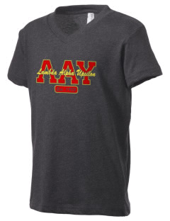 Lambda Alpha Upsilon Kid's V-Neck Jersey T-Shirt