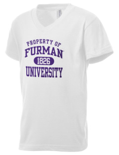 Furman University Paladins Kid's V-Neck Jersey T-Shirt