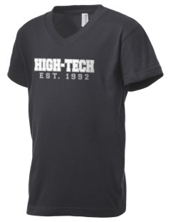 High-Tech Institute est. 1992 Kid's V-Neck Jersey T-Shirt