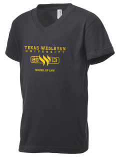 Texas Wesleyan University Rams Kid's V-Neck Jersey T-Shirt