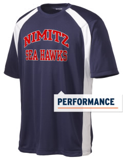 Nimitz Middle School Sea Hawks Men's Dry Zone Colorblock T-Shirt