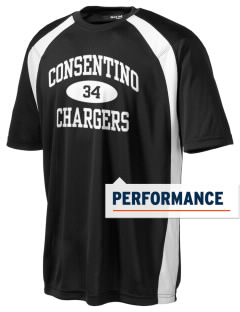 Consentino Middle School Chargers Men's Dry Zone Colorblock T-Shirt