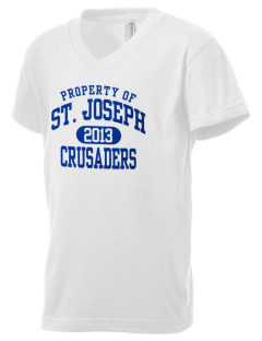Saint Joseph Academy Crusaders Kid's V-Neck Jersey T-Shirt