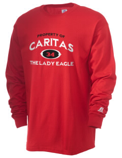 Caritas Academy The Lady Eagle  Russell Men's Long Sleeve T-Shirt