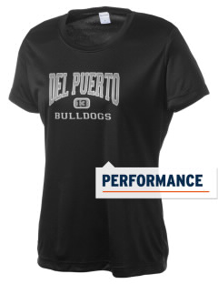 Del Puerto High School Bulldogs Women's Competitor Performance T-Shirt