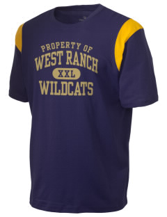 West Ranch High School Wildcats Holloway Men's Rush T-Shirt