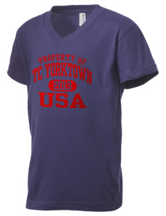 Yorktown CG Reserve Training Center Kid's V-Neck Jersey T-Shirt
