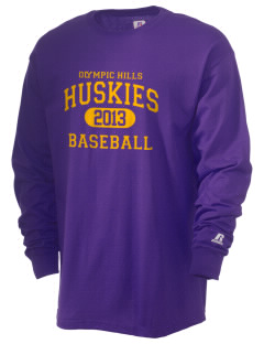 Olympic Hills Elementary School Huskies  Russell Men's Long Sleeve T-Shirt