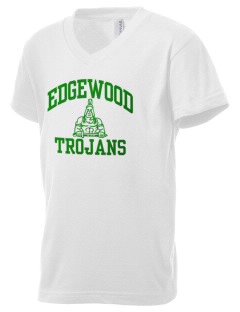 Edgewood High School Trojans Kid's V-Neck Jersey T-Shirt