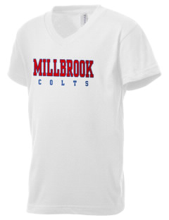 Millbrook Elementary School Colts Kid's V-Neck Jersey T-Shirt