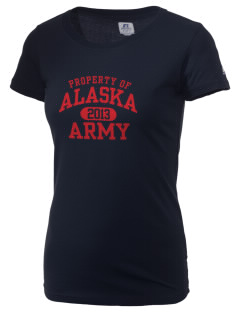 Alaska Army National Guard  Russell Women's Campus T-Shirt