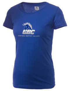 Central Baptist College Mustangs  Russell Women's Campus T-Shirt