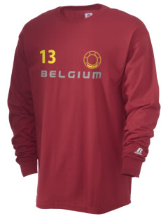Belgium  Russell Men's Long Sleeve T-Shirt