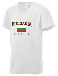 Bulgaria Kid's V-Neck Jersey T-Shirt