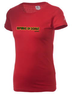 Republic of Congo  Russell Women's Campus T-Shirt