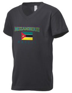 Mozambique Kid's V-Neck Jersey T-Shirt