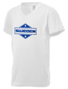 Sweden Kid's V-Neck Jersey T-Shirt