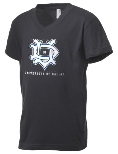 University of Dallas Crusaders Kid's V-Neck Jersey T-Shirt