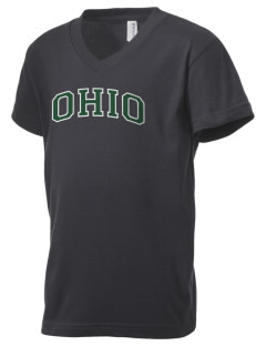 Ohio University Bobcats Kid's V-Neck Jersey T-Shirt