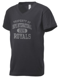 Hope International University Royals Kid's V-Neck Jersey T-Shirt