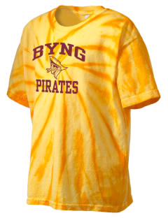 Byng Junior High School Pirates Kid's Tie-Dye T-Shirt