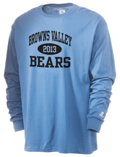 Browns Valley Elementary School Bears  Russell Men's Long Sleeve T-Shirt