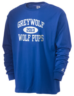 Greywolf Elementary School Wolf Pups  Russell Men's Long Sleeve T-Shirt