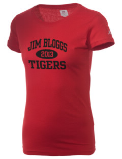 Jim Bloggs School Tigers  Russell Women's Campus T-Shirt