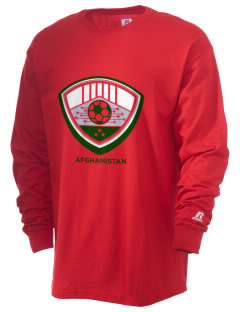 Afghanistan Soccer  Russell Men's Long Sleeve T-Shirt