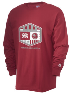 American Samoa Soccer  Russell Men's Long Sleeve T-Shirt