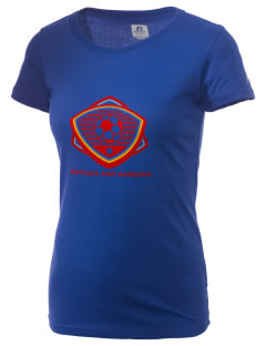 Antigua and Barbuda Soccer  Russell Women's Campus T-Shirt