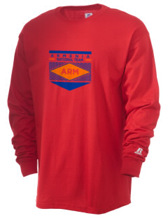 Armenia Soccer  Russell Men's Long Sleeve T-Shirt