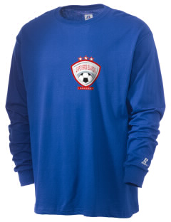 Cape Verde Islands Soccer  Russell Men's Long Sleeve T-Shirt