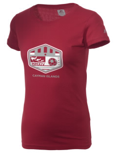 Cayman Islands Soccer  Russell Women's Campus T-Shirt