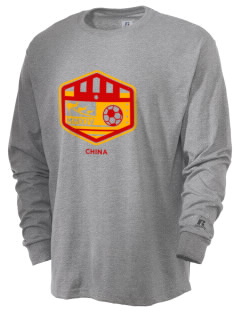 China Soccer  Russell Men's Long Sleeve T-Shirt
