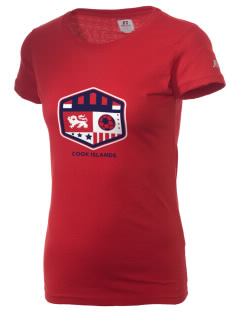 Cook Islands Soccer  Russell Women's Campus T-Shirt