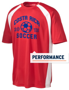 Costa Rica Soccer Men's Dry Zone Colorblock T-Shirt
