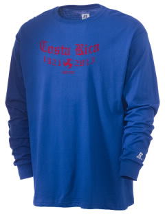 Costa Rica Soccer  Russell Men's Long Sleeve T-Shirt