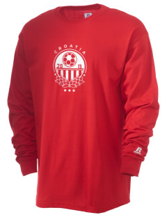 Croatia Soccer  Russell Men's Long Sleeve T-Shirt
