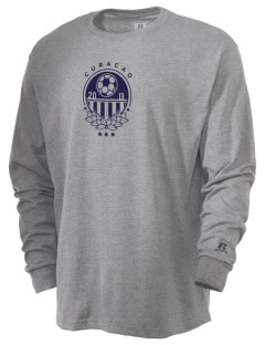 Curacao Soccer  Russell Men's Long Sleeve T-Shirt