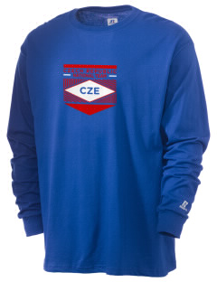 Czech Republic Soccer  Russell Men's Long Sleeve T-Shirt