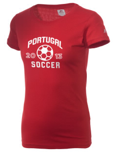 Portugal Soccer  Russell Women's Campus T-Shirt