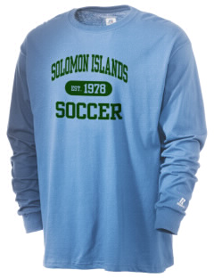 Solomon Islands Soccer  Russell Men's Long Sleeve T-Shirt