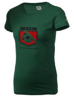 St. Kitts and Nevis Soccer  Russell Women's Campus T-Shirt