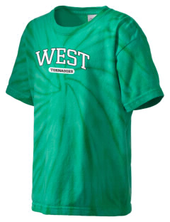 West Elementary School tornadoes Kid's Tie-Dye T-Shirt